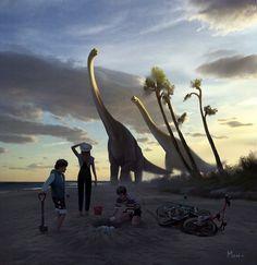 Jurassic World Dinosaurs, Jurassic Park World, Dinosaur Park, Man Beast, The Lost World, Legendary Creature, Prehistoric Creatures, Epic Art, Prehistory