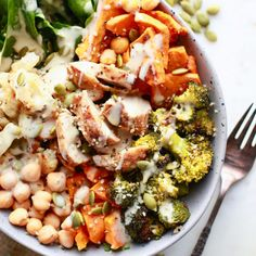 15 Healthy Buddha Bowl Recipes You've Got To Try – Nutrition in the Kitch Roasted Vegetables, Veggies, Green Curry Sauce, Whole Food Recipes, Dinner Recipes, Grilled Tofu, Mushroom Burger, Buddha Bowl, Vegetarian Recipes