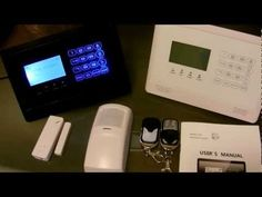 Here is a quick overview of what comes with our new GSM Home Alarm System Touch Panel. This Alarm works with any T-Mobile or AT&T SIM Card and has remote Arm. Security Logo, Security Alarm, Security Companies, Wireless Alarm System, Wireless Home Security Systems, Small Covered Patio, Wireless Video Camera, Think Happy Thoughts, Smart Home Security