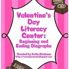 Students can practice identifying beginning and ending diagraphs in this Valentine's Day Center! Appropriate for first and second grade. $