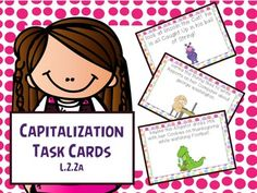 Language/Word Work: L.2.2a- At this center students must take 3-5 sentence task cards and one piece of lined paper. Students will then look at the sentence task card and determine what should or should not be capitalized. Students will then rewrite the sentence onto their own lined paper correctly.