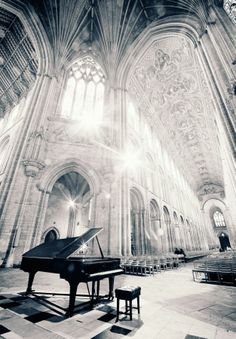 Ely Cathedral - Cambridgeshire- England.  Hmm...I wonder how good the acoustics of this room are??