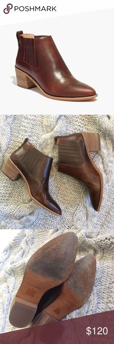 "🆕LISTING {Madewell} Bonham Boot A sleek Chelsea boot with a bit of a Western vibe (see: pointy toe, stitched welt). Inspired by luxury shoemakers, this pull-on style is made of smooth leather, right down to the easy-to-break-in sole.  4"" shaft height  2"" heel. Leather upper, lining and sole. In excellent used condition. Open to reasonable offers! Madewell Shoes Ankle Boots & Booties"