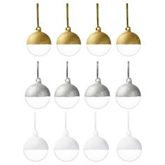 SNÖMYS Decoration, ornament - IKEA $8.99 4 pack love the golden and clear ones. Buy clear ones and dip them in gold