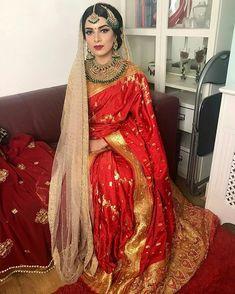 Bengali Wedding, Bengali Bride, Desi Bride, Bride Look, Indian Bridal Lehenga, Pakistani Bridal Dresses, Beautiful Indian Brides, Beautiful Bride, Wedding Attire