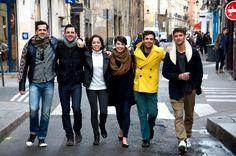 Robbie Fairchild, Max von Essen, Sara Esty, Leanne Cope, Brandon Uranowitz, and Garen Scribner in Marais
