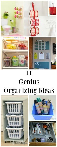 11 Genius Organizing Ideas - creative ideas that you can use in your home to get organized!