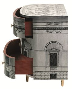 Piero Fornasetti, Palladiana chest of drawers I was obsessed with Fornasetti furniture when I was little! Someday I will acquire a piece.