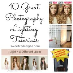 10 Great Photography Lighting Tutorials from @Courtney Baker Baker O'Dell
