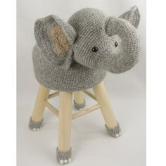 Elephant stool Crochet Home Decor, Crochet Crafts, Crochet Dolls, Yarn Crafts, Cute Crochet, Crochet For Kids, Crochet Baby, Knit Crochet, Knitting Projects