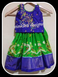 Lehanga For Kids, Frocks For Girls, Navy Blue Color, Work Blouse, Summer Dresses, Yellow, Children, Green, Collection
