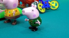 Peppa Pig in english. Peppa and George excavate dinosaur. George finds T...