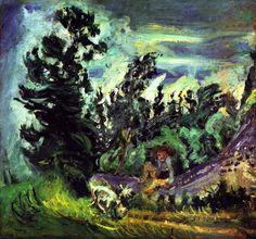 Landscape at Champigny  Chaim Soutine - circa 1942-1943