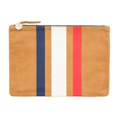 CLARE V Flat Clutch. #clarev #bags #leather #clutch #velvet #hand bags #