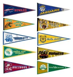 HBCU College Pennant Set by College Flags and Banners Co., http://www.amazon.com/dp/B004WDUP0Q/ref=cm_sw_r_pi_dp_y0-nrb1HD1MQK