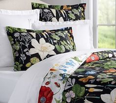 Poppy Botanical Reversible Duvet Cover & Shams #potterybarn