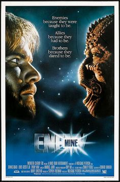 Enemy Mine Century Fox, One Sheet X Science Fiction. Starring Dennis Quaid, - Available at Sunday Internet Movie Poster. Classic Movie Posters, Classic Movies, Old Movies, Great Movies, Love Movie, Movie Tv, Film Science Fiction, Fiction Film, 20th Century Fox