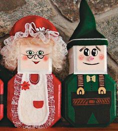 Paver Elf and Mrs. Santa