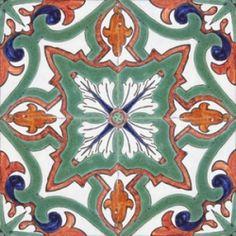 ASK 2315 Portuguese handmade majolica tile