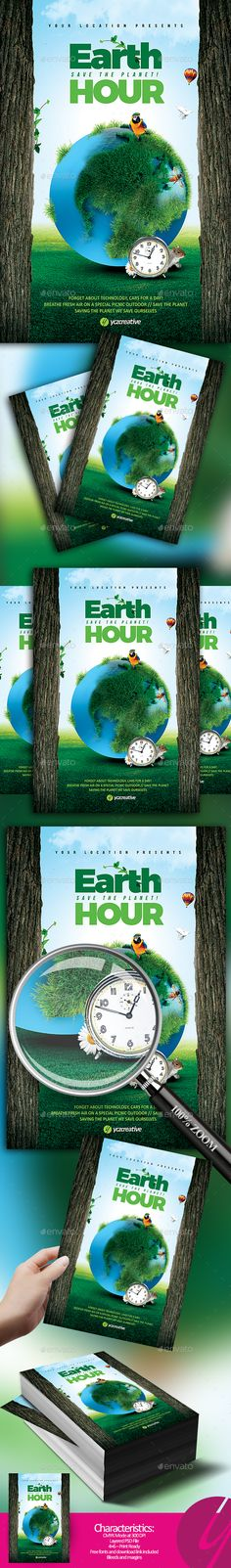 Earth Hour Flyer — Photoshop PSD #save #flyer • Download ➝ https://graphicriver.net/item/earth-hour-flyer/19984364?ref=pxcr