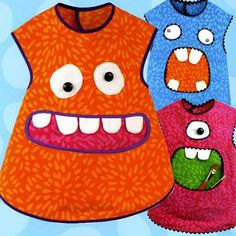 Smock Monsters printed pattern from Sew Baby