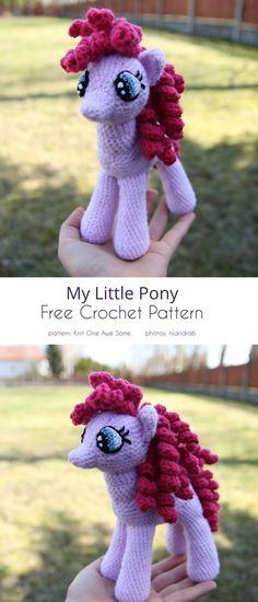 Easy Crochet Patterns, Crochet Patterns Amigurumi, Knitting Patterns Free, Crochet Ideas, Crochet Projects, Crochet Pony, Free Crochet, Crochet Hats, My Little Pony Rarity