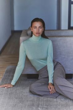 Irina Shayk Falconeri Ultralight Cashmere Campaign | Fashion Gone Rogue Turtleneck Style, Fashion Magazine Cover, Magazine Covers, Campaign Fashion, Russian Models, Irina Shayk, Italian Fashion, Fashion Labels, Get The Look