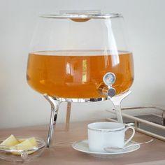 Christofle Silver Time tea fountain  www.artedona.com