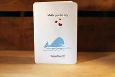 whale you be my valentine?  adorable.