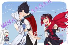 rwby Meme for Snowbird by InsertSomthinAwesome Water Pond Safety Who would have thought that a small Rwby Anime, Rwby Fanart, Cute Anime Pics, Cute Anime Couples, Neon Katt, Rwby Qrow, Qrow Branwen, Burning Rose, Rwby Volume