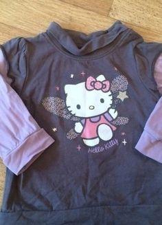 Kaufe meinen Artikel bei #Mamikreisel http://www.mamikreisel.de/kleidung-fur-madchen/lange-pullover/18469813-selten-getragener-grau-lila-hello-kitty-pulli