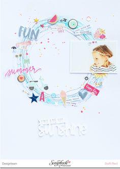 Juli Kit 2016 Steffi Ried Layout *You Are My Sunshine* #scrapbookwerkstatt #papercraft #ellesstudio #simplestories #scrapbooking
