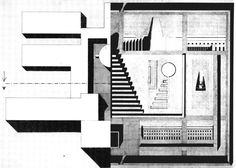 Autonomy C McEwan 2013 School-Cemetery [montage] Left: Fagnano Olona School, Right San Cataldo Cemetery, Both drawings by Rossi.