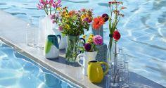 Schöne Vasen aus Keramik oder Glas
