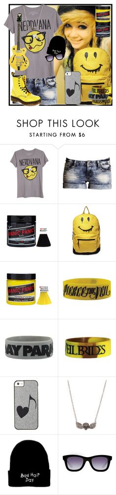 """Read the description!"" by designergirl2000 ❤ liked on Polyvore featuring Boohoo, Manic Panic NYC, Steve Madden, Rock Rebel, Italia Independent and Dr. Martens"