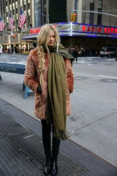 all rugged up. NYC.