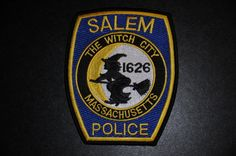 Salem Police Patch, Essex County, Massachusetts