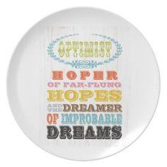 Inspirational Art - Optimist Party Plates