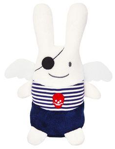 Ange Lapin Pirate Marinière 26Cm