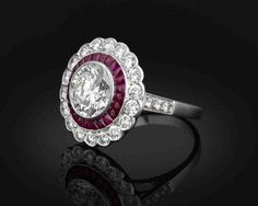 Art Deco Ruby Engagement Rings