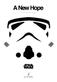 Star Wars Episode IV: A New Hope (1977) ~ Minimal Movie Poster by Daniel Montgomery