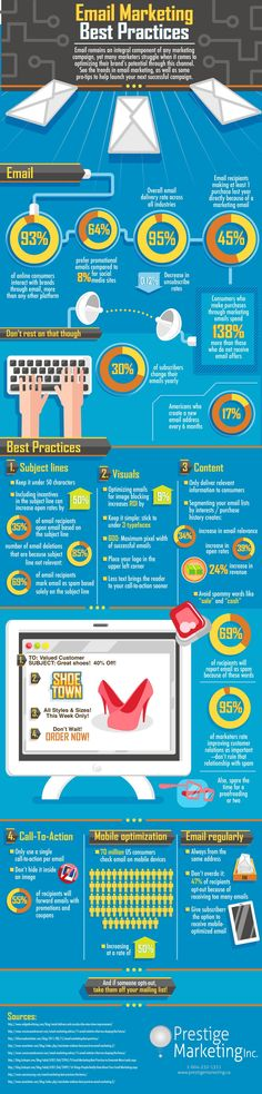 Las mejores prácticas en email marketing #infografia #infographic #internet #marketing Vía @alfredovela