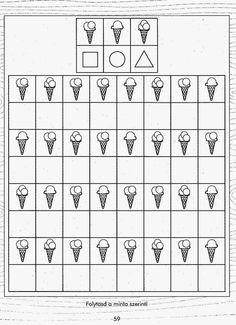 Kids for Worksheets: Észtorna - Angela Lakatos 2019 Kindergarten Worksheets, Worksheets For Kids, Printable Worksheets, Kids Education, Special Education, Book Activities, Preschool Activities, Visual Perceptual Activities, Math For Kids