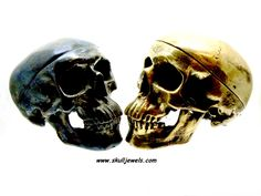 Silver or Brass Skull ornament - Dogale jewellery Venice Italia