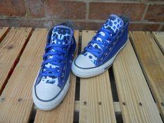 Items similar to Blue Cheetah print custom made Converse on Etsy Cool Converse, Converse Sneakers, Vans, Custom Made Converse, Diva Fashion, Cheetah Print, Chuck Taylor Sneakers, Chuck Taylors, All Star