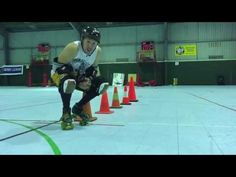 Roller Derby Chest Blocking Drill with Sausarge Rolls #11 Derby Coach - YouTube