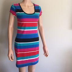 Striped Dress Multicolor Striped Dress by Derek Heart size L Derek Heart Dresses Midi
