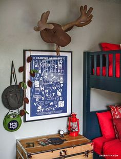 Create the ultimate kids Camping Bedroom with awesome inspiration from Hayneedle and handcrafted lifestyle expert Lia Griffith.