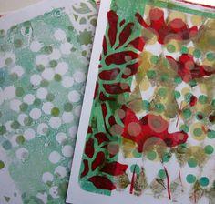 Gelli print fun...so gorgeous! Gellinarts gelling late for printmaking