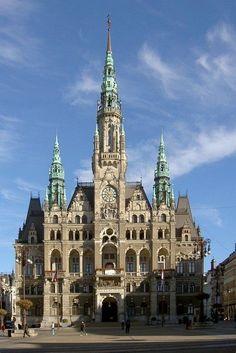 Radnice v Liberci - severní Čechy , Town Hall in Liberec - North Bohemia, Czech Republic